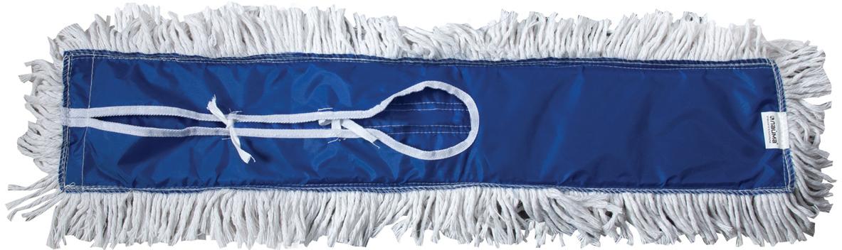 Держатель-рамка для швабры Лайма Проф, с насадкой МОП, цвет: синий, 60 см601505Металлический держатель-рамка с хлопковой насадкой Лайма предназначен для проведения влажной и сухой уборки помещений средней и большой площади. Используется в комплекте с ручкой. Насадка крепится на держателе с помощью завязок.