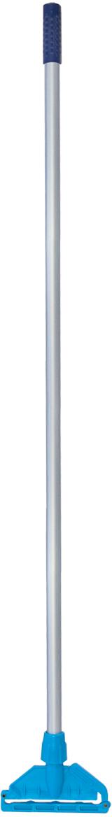 Швабра Лайма Проф Кентукки, универсальная, с насадкой Моп, цвет: голубой, 118 см
