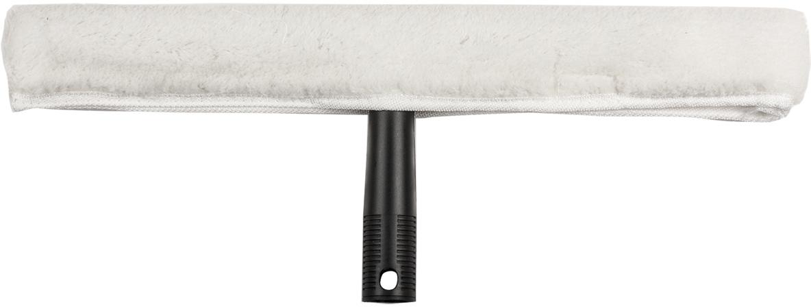 Стекломойка Лайма Проф, с насадкой, цвет: белый, 35 см601518Стекломойка с насадкой Лайма предназначена для мытья и полировки стеклянных поверхностей. Насадка изготовлена из акрила и даркона, крепится на держателе с помощью липучек. Стекломойка может использоваться в комплекте с ручкой.