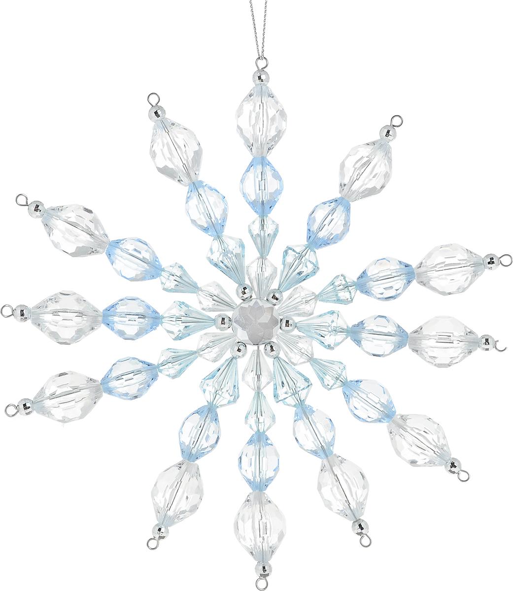 Украшение для интерьера новогоднее Erich Krause Снежинка кристальная, 17 см43713Большая снежинка выполненная из прозрачных и голубых акриловых бусин, похожа на изделие из хрусталя. В свете гирлянд такое украшение загадочно переливается. Новогодние украшения всегда несут в себе волшебство и красоту праздника. Создайте в своем доме атмосферу тепла, веселья и радости, украшая его всей семьей.