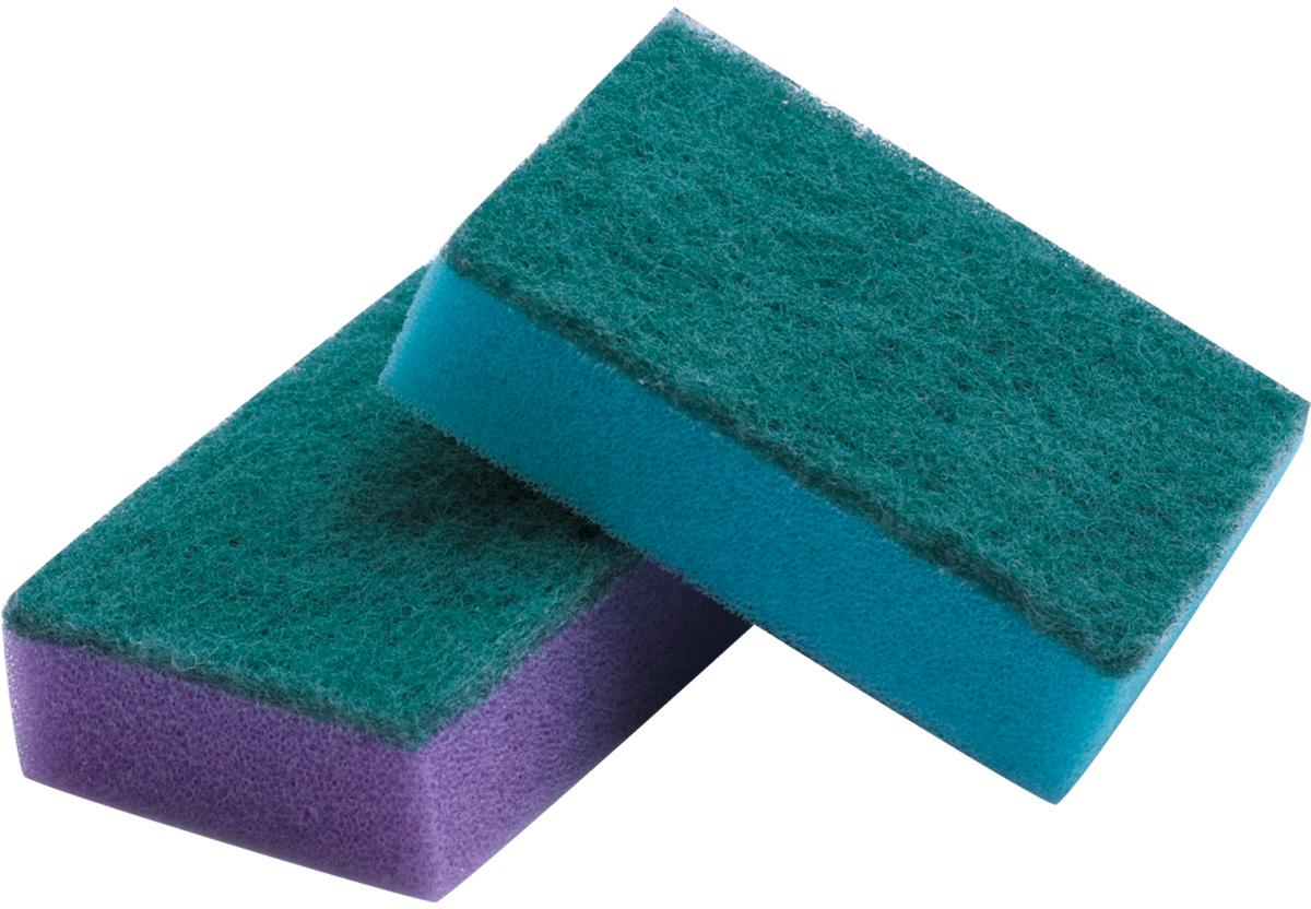 Набор губок для мытья посуды Лайма, с чистящим слоем, 2,7 х 9,6 х 6,4 см, 5 штК0013Бытовые губки Лайма предназначены для мытья посуды и проведения влажной уборки. За счет увеличенного размера губка удобно лежит в руке. Мягкий слой отлично моет, абразивный удаляет стойкие загрязнения.