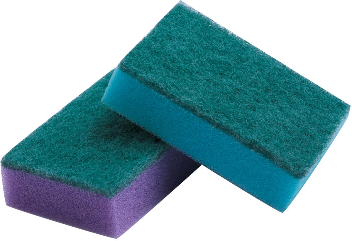 Набор губок для мытья посуды Лайма, с чистящим слоем, 2,6 х 8 х 5,3 см, 5 штК0014Бытовые губки Лайма предназначены для мытья посуды и проведения влажной уборки. Мягкийслой отлично моет, абразивный удаляет стойкие загрязнения. Могут использоваться с любымичистящими и моющими средствами.