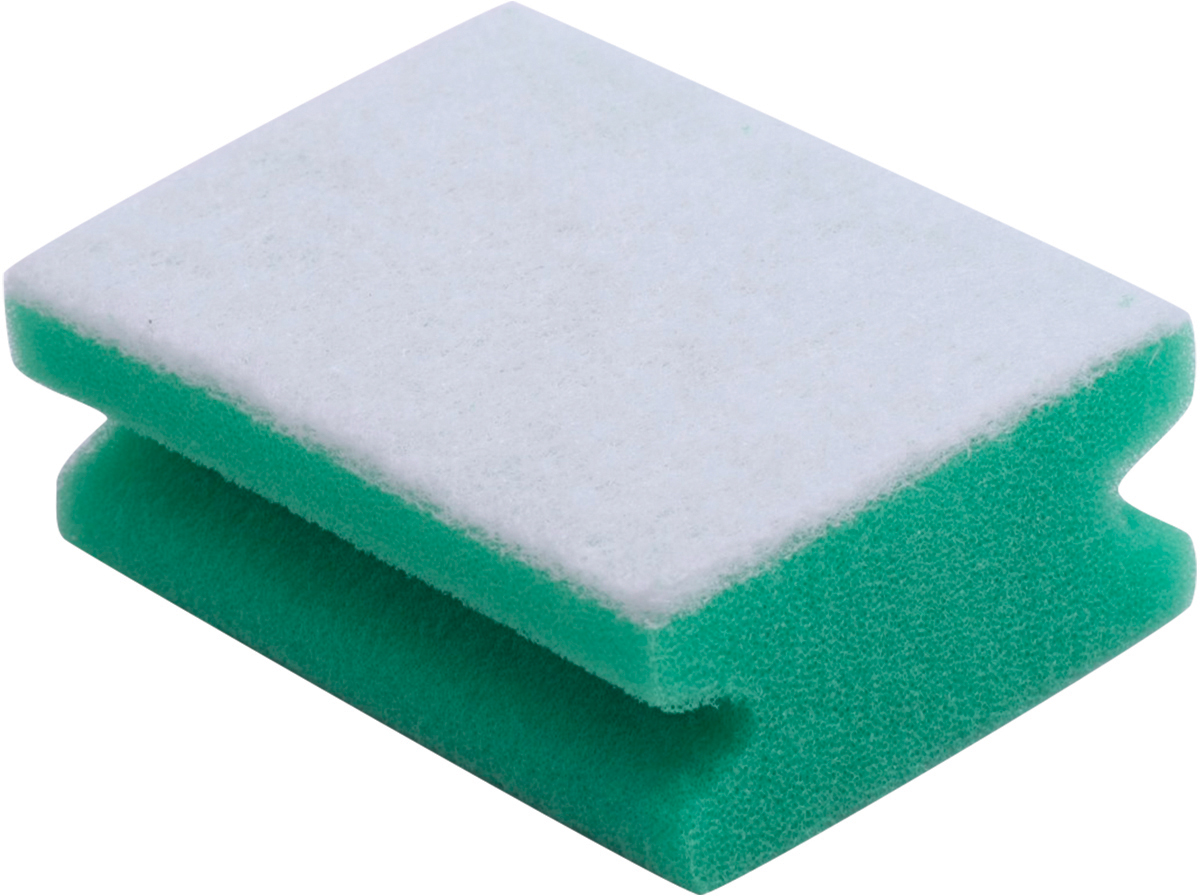Губка для уборки Лайма, для деликатных поверхностей, профильная, цвет: зеленый, 4,8 х 12 х 8,6 см лента малярная folsen для деликатных поверхностей 30мм х 25
