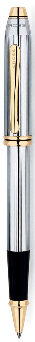 Cross Ручка-роллер Selectip Townsend цвет корпуса серебристый золотистый505Американская компания CROSS – один из старейших брендов среди производителей пишущих инструментов и деловых аксессуаров. Компания была основана в 1846 году ювелиром Ричардом Кроссом и изначально специализировалась на производстве роскошных ротом и серебром. На протяжении долгих лет пишущие инструек из драгоценных металлов и ювелирных корпусов для карандашей, тисненных золотом и серебром. На протяжении долгих лет пишущие инструменты CROSS остаются классическим выбором для подарка.Ручка CROSS — это оригинальный персонгальный подарок и неотъемлемый элемент вашего стиля.Это голос доверия,который создает долгосрочные отношения между людьми и обогащет смыслом драгоценные моменты.Каждая ручка CROSS имеет пожизненную механическую гарантию. Ручка-роллер Cross Townsend Medalist, Chrome / 23Ct Gold Plated / АРТИКУЛ: 505Корпус: хром. Механизм: съемный колпачок. Особенности: возможно использование стержня маркера для документов или большого шарикового стержня. Отделка: позолота 23 К. Цвет: хром / золото. Механизм:съемный колпачок Цвет корпуса:серебряный, стальной Отделка элементов:золотой цвет Названная в честь основателя компании Алонзо Таунсенда Кросса, коллекция Cross Townsend - настоящий шедевр. В ней гармонично сочетаются ювелирное мастерство и самые передовые технологии. Это драгоценность в ваших руках. Отличительная черта коллекции - широкий диаметр корпуса пишущих инструментов и опоясывающие его двойные кольца.