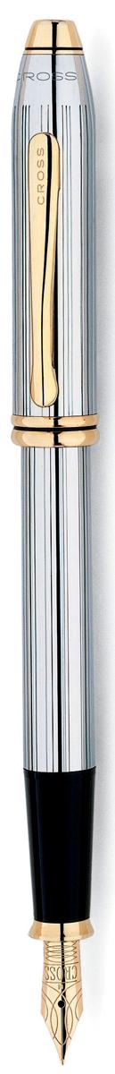Cross Ручка перьевая Townsend цвет корпуса серебристый золотистый506-FFАмериканская компания CROSS – один из старейших брендов среди производителей пишущих инструментов и деловых аксессуаров. Компания была основана в 1846 году ювелиром Ричардом Кроссом и изначально специализировалась на производстве роскошных ротом и серебром. На протяжении долгих лет пишущие инструек из драгоценных металлов и ювелирных корпусов для карандашей, тисненных золотом и серебром. На протяжении долгих лет пишущие инструменты CROSS остаются классическим выбором для подарка.Ручка CROSS — это оригинальный персонгальный подарок и неотъемлемый элемент вашего стиля.Это голос доверия,который создает долгосрочные отношения между людьми и обогащет смыслом драгоценные моменты.Каждая ручка CROSS имеет пожизненную механическую гарантию.Перьевая ручка Cross Townsend Medalist, Chrome GT (Перо F) / АРТИКУЛ: 506-FFПеро: нержавеющая сталь. Отделка пера: позолота 23K, оригинальная гравировка. Корпус: ювелирная латунь. Механизм: съемный колпачок. Отделка: гравировка в виде тонких продольных линий, зеркальный хром, отдельные элементы дизайна - позолота 23K. Цвет: хром / золото. Особенности: комплектуется поршневым конвертором, вМеханизм: съемный колпачок Цвет корпуса: серебряный, стальной Отделка элементов:золотой цвет Толщина корпуса: стандартная Перо:нержавеющая сталь, позолота Толщина пишущего узла: f (тонкое)озможно использование чернильных картриджей Cross.Названная в честь основателя компании Алонзо Таунсенда Кросса, коллекция Cross Townsend - настоящий шедевр. В ней гармонично сочетаются ювелирное мастерство и самые передовые технологии. Это драгоценность в ваших руках. Отличительная черта коллекции - широкий диаметр корпуса пишущих инструментов и опоясывающие его двойные кольца.