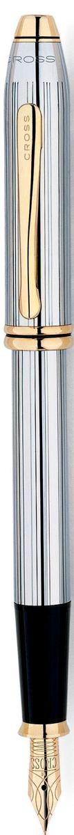 Cross Ручка перьевая Townsend цвет корпуса серебристый cross ручка перьевая townsend цвет корпуса золотистый
