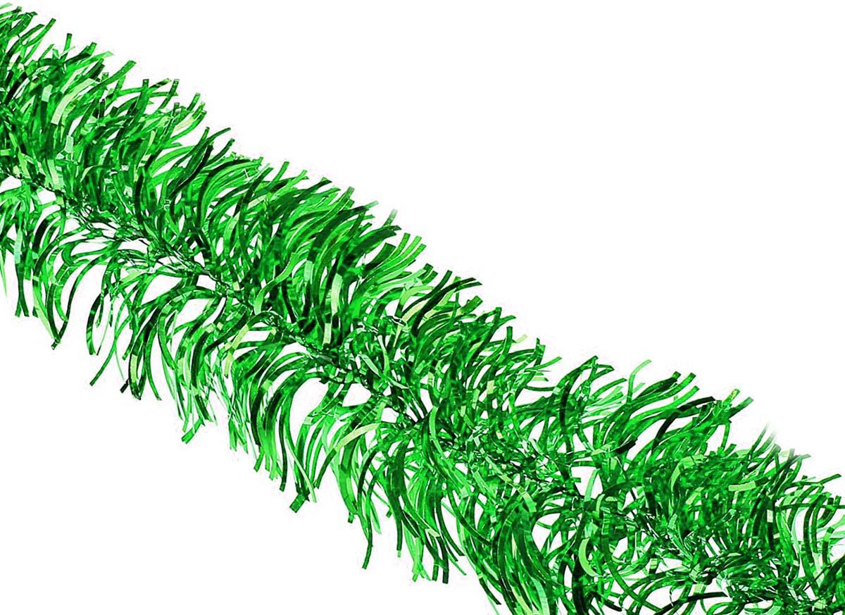 Мишура новогодняя Sima-land, цвет: зеленый, диаметр 8 см, длина 2 м. 702631 мишура новогодняя sima land цвет золотистый красный диаметр 7 см длина 2 м 279377