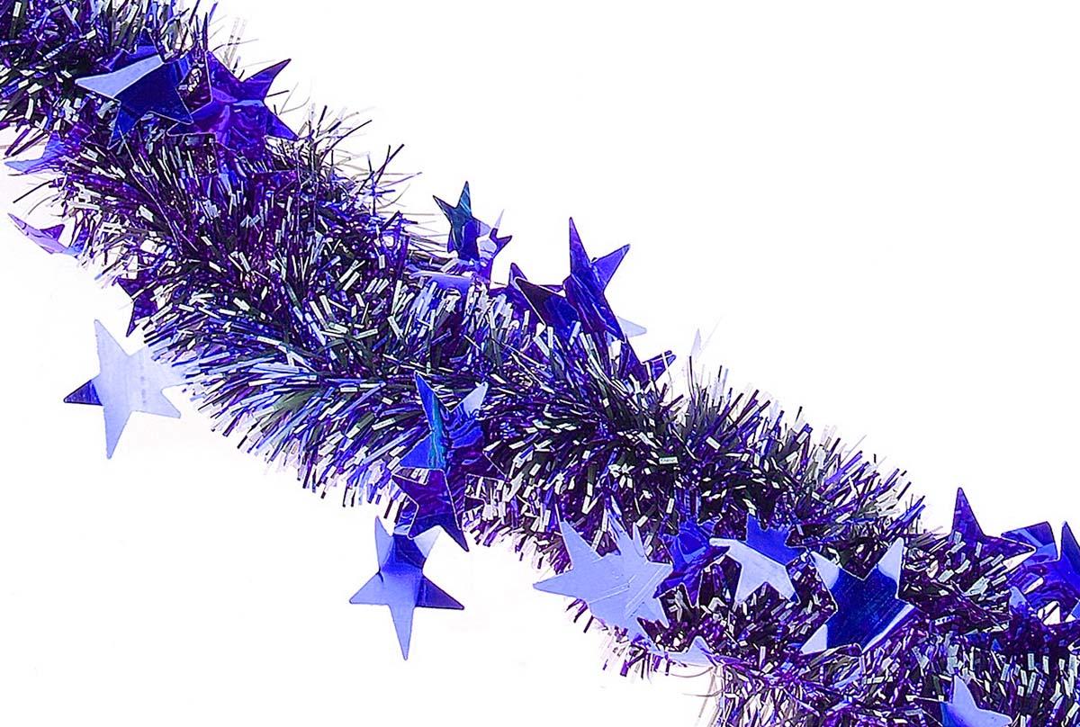 Мишура новогодняя Sima-land, цвет: синий, белый, диаметр 5 см, длина 2 м. 702616702616Мишура новогодняя Sima-land, выполненная из фольги, поможет вам украсить свой дом к предстоящим праздникам. Мишура армирована, то есть имеет проволоку внутри и способна сохранять приданную ей форму. Новогодняя елка с таким украшением станет еще наряднее. Новогодней мишурой можно украсить все, что угодно - елку, квартиру, дачу, офис - как внутри, так и снаружи. Можно сложить новогодние поздравления, буквы и цифры, мишурой можно украсить и дополнить гирлянды, можно выделить дверные колонны, оплести дверные проемы.
