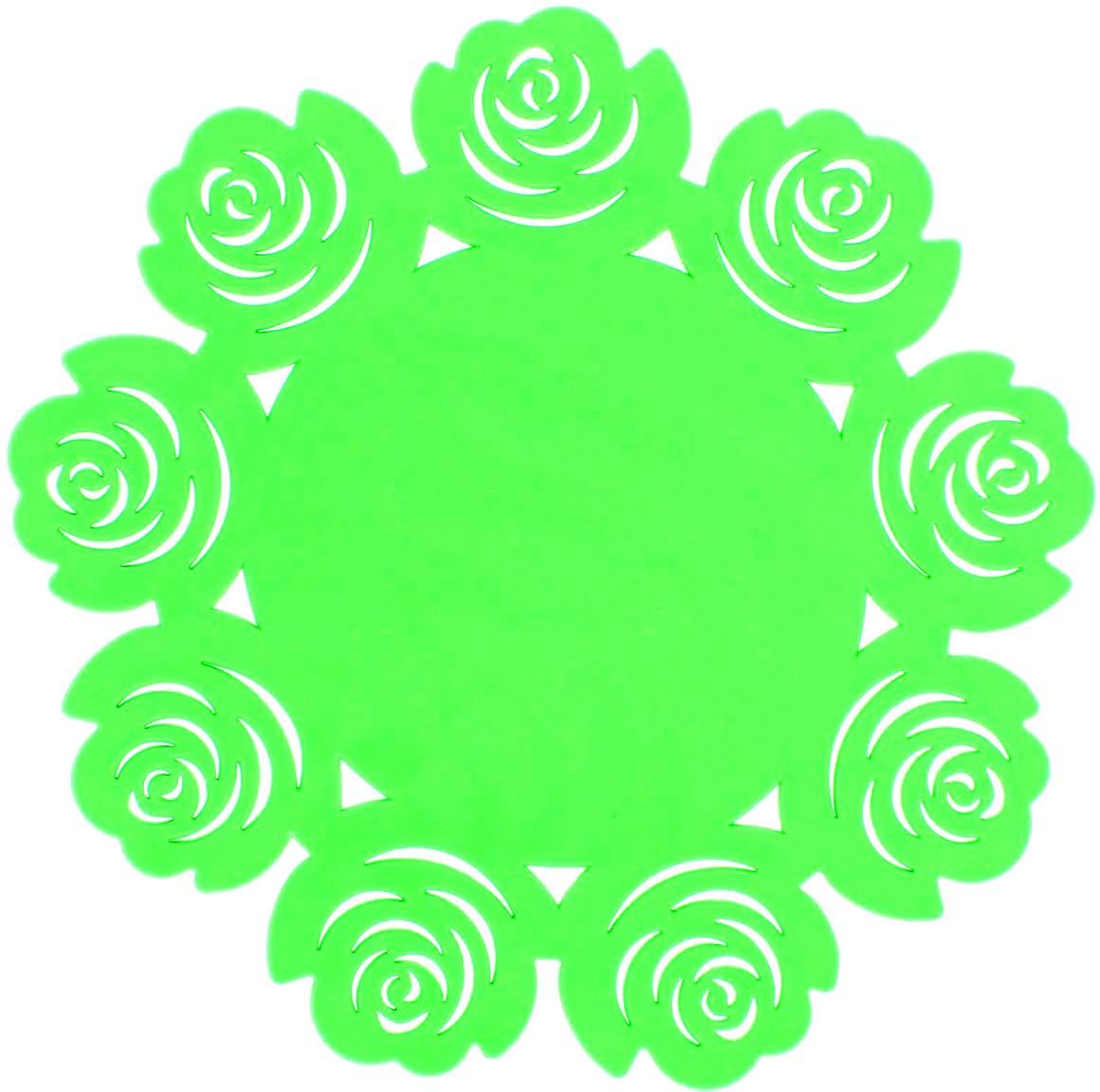 Набор подставок под горячее Доляна Летний домик, цвет: салатовый, 2 шт1678208_салатовыйНабор Доляна Летний домик состоит из 2 силиконовых подставок под горячее.Силиконовая подставка под горячее - практичный предмет, который обязательно пригодится в хозяйстве. Изделие поможет сберечь столы, тумбы, скатерти и клеенки от повреждения нагретыми сковородами, кастрюлями, чайниками и тарелками.