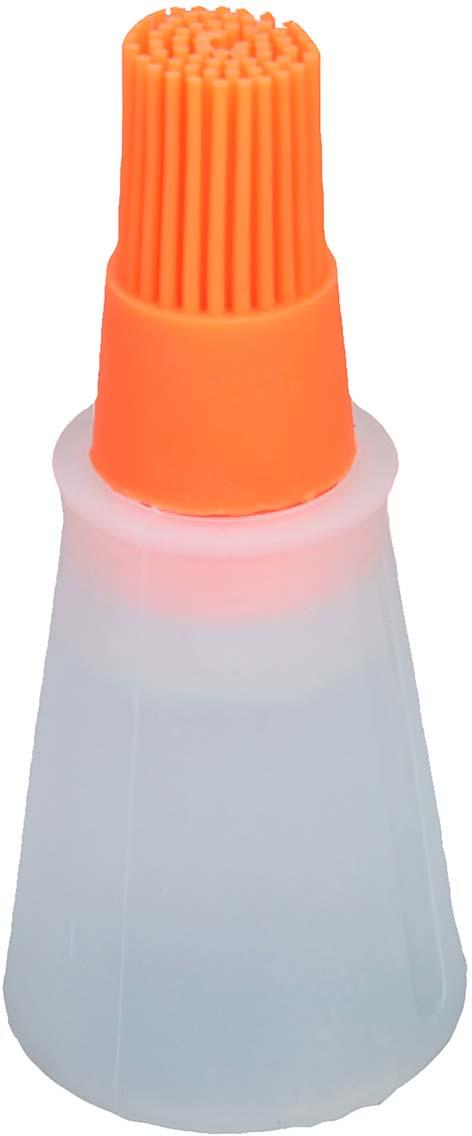 Кисть Доляна Олио, для масла, цвет: прозрачный, оранжевый,11 х 5 см708001-прозрачный, оранжевыйСпециальная кисть Доляна Олио помогает быстро смазать выпечку глазурью, яйцом или кремом, нанести масло на сковороду или противень.