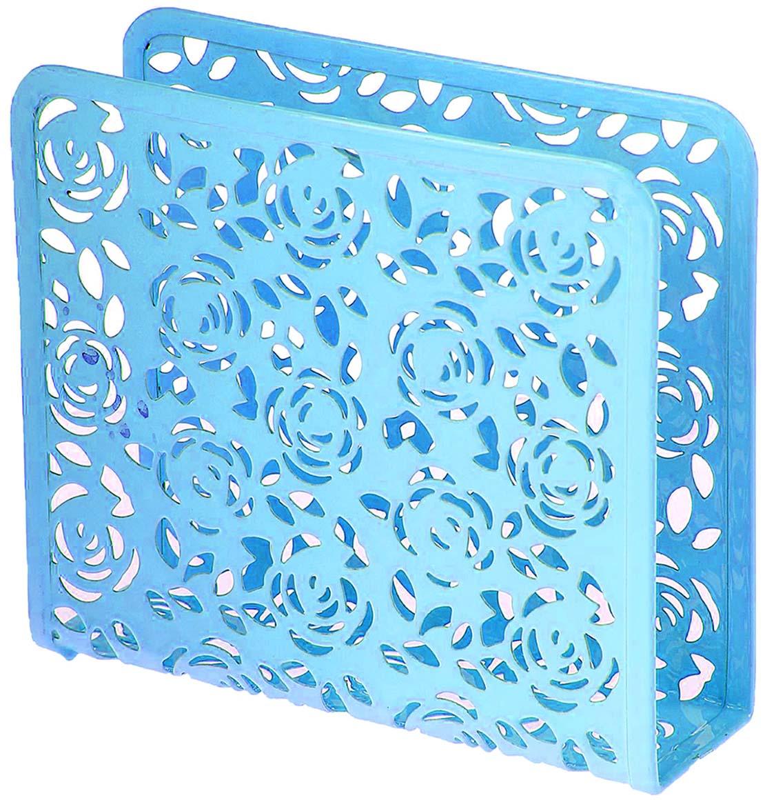 Салфетница Доляна Розы, цвет: голубой, 15 х 5 х 13,5 см1476616_голубойСалфетница - это обязательный предмет сервировки, а подобранная со вкусом и изяществом -это еще и декоративный элемент, отвечающий за эстетическую наполненность каждой трапезы. Салфетница Розы своим неприхотливым, но чарующим дизайном украсит любую кухню!