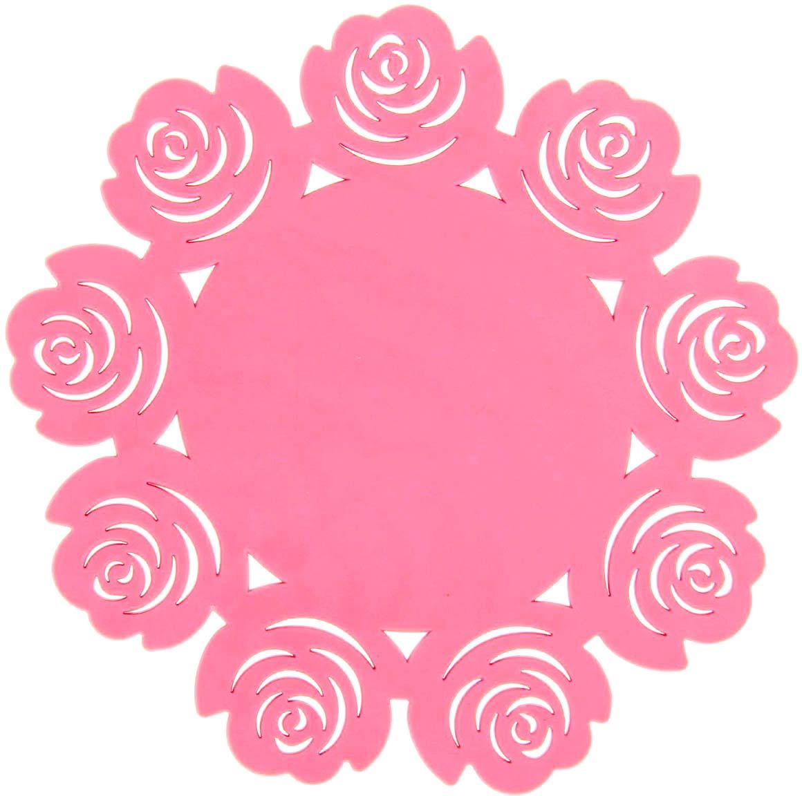 Подставка под горячее Доляна Летний домик, цвет: светло-розовый, диаметр 16 см812069_светло-розовыйСиликоновая подставка под горячее Доляна - практичный предмет, который обязательно пригодится в хозяйстве. Изделие поможет сберечь столы, тумбы, скатерти и клеёнки от повреждения нагретыми сковородами, кастрюлями, чайниками и тарелками.