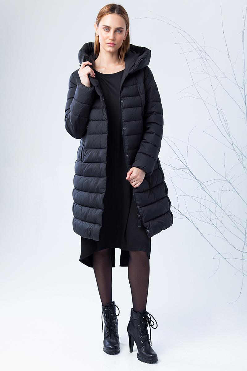 Пуховик женский Clasna, цвет: черный. CW17D-002ACQ_701. Размер XXL (50) зимний пуховик
