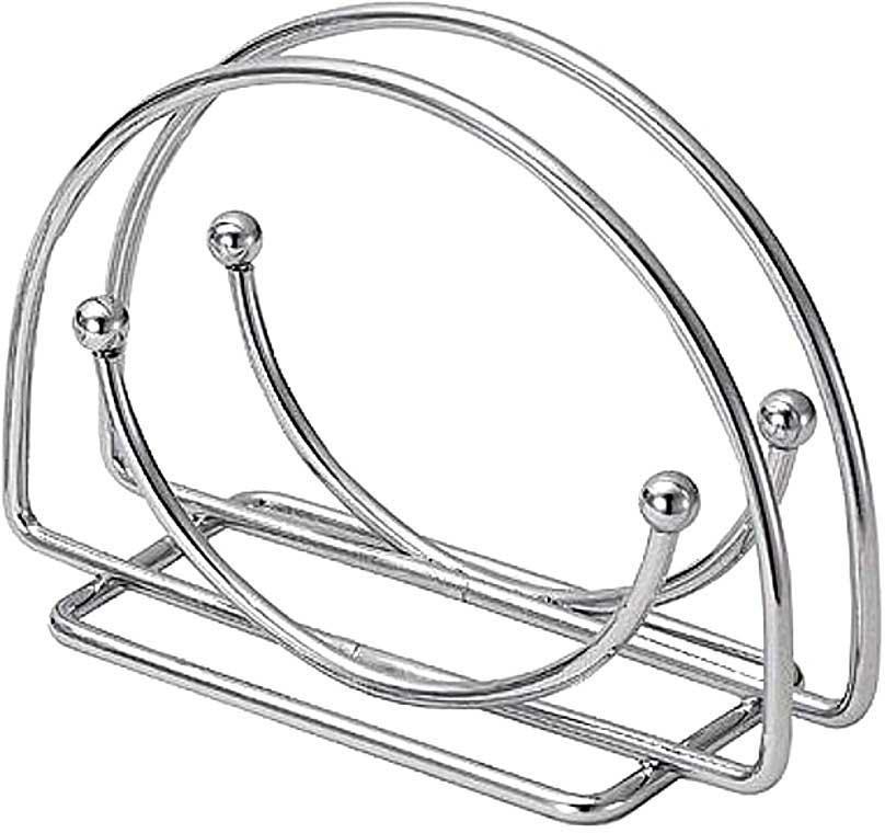 Подставка для салфеток Мультидом, аркаAN52-2Используется для сервировки стола.Изготовлена из металла с хромированным покрытием.