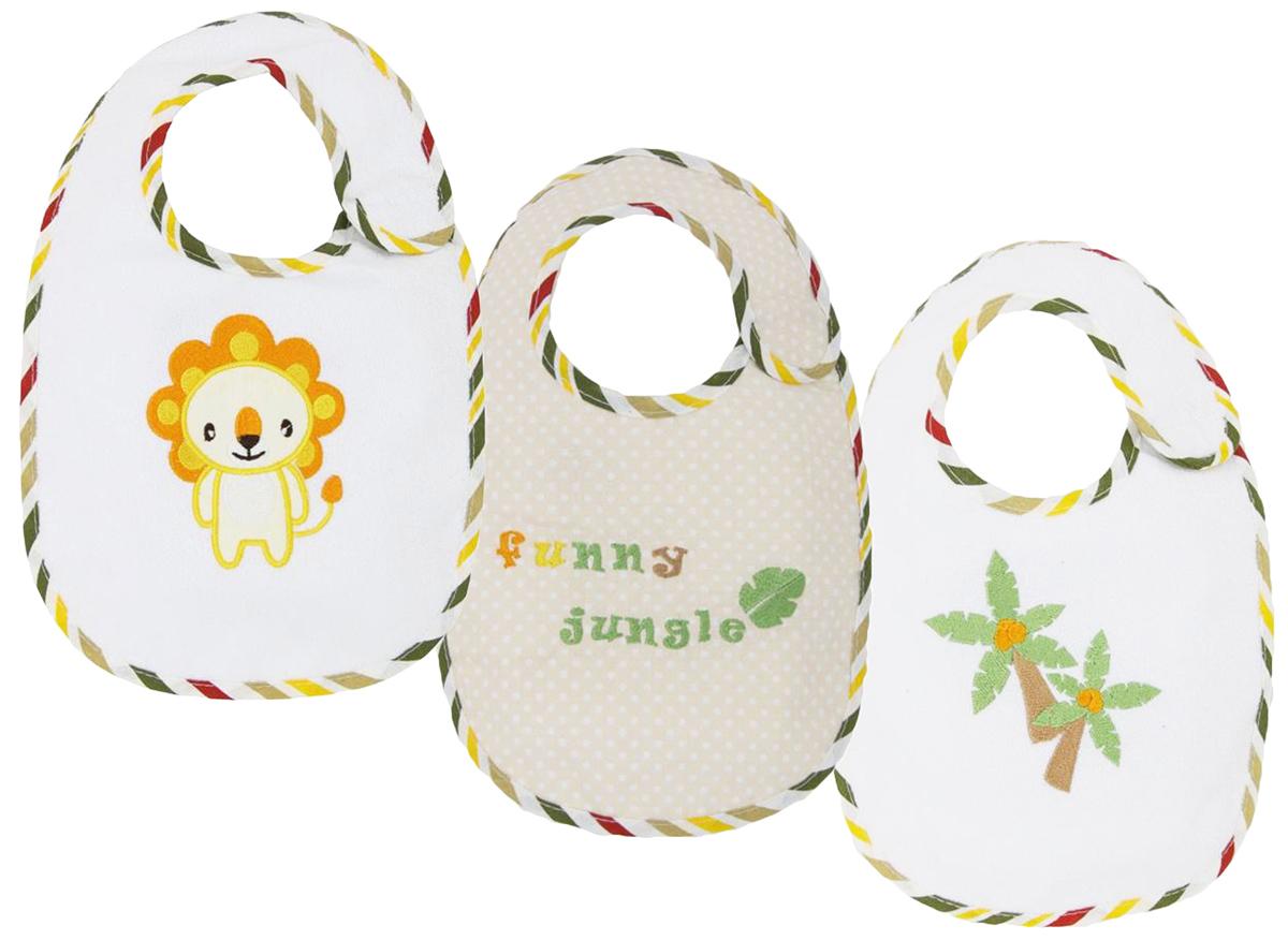Polini Набор нагрудников для кормления Джунгли 3 шт стульчики для кормления polini 460