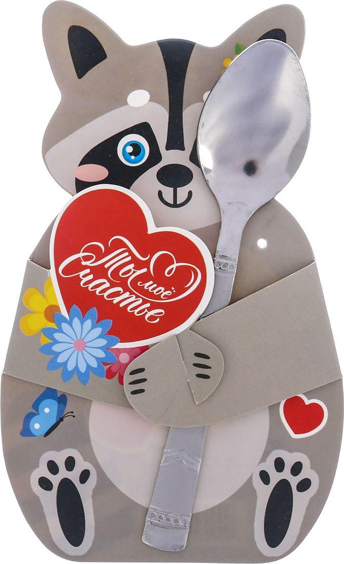 Если вы хотите сделать особенный подарок, то чайная ложка на открытке - отличное решение. Изделие  не окажется забытым в пыльном ящике, будет всегда под рукой и станет любимым столовым  прибором.  Сувенир преподносится на необычной подложке в виде милого персонажа и точно придётся по  душе любому.
