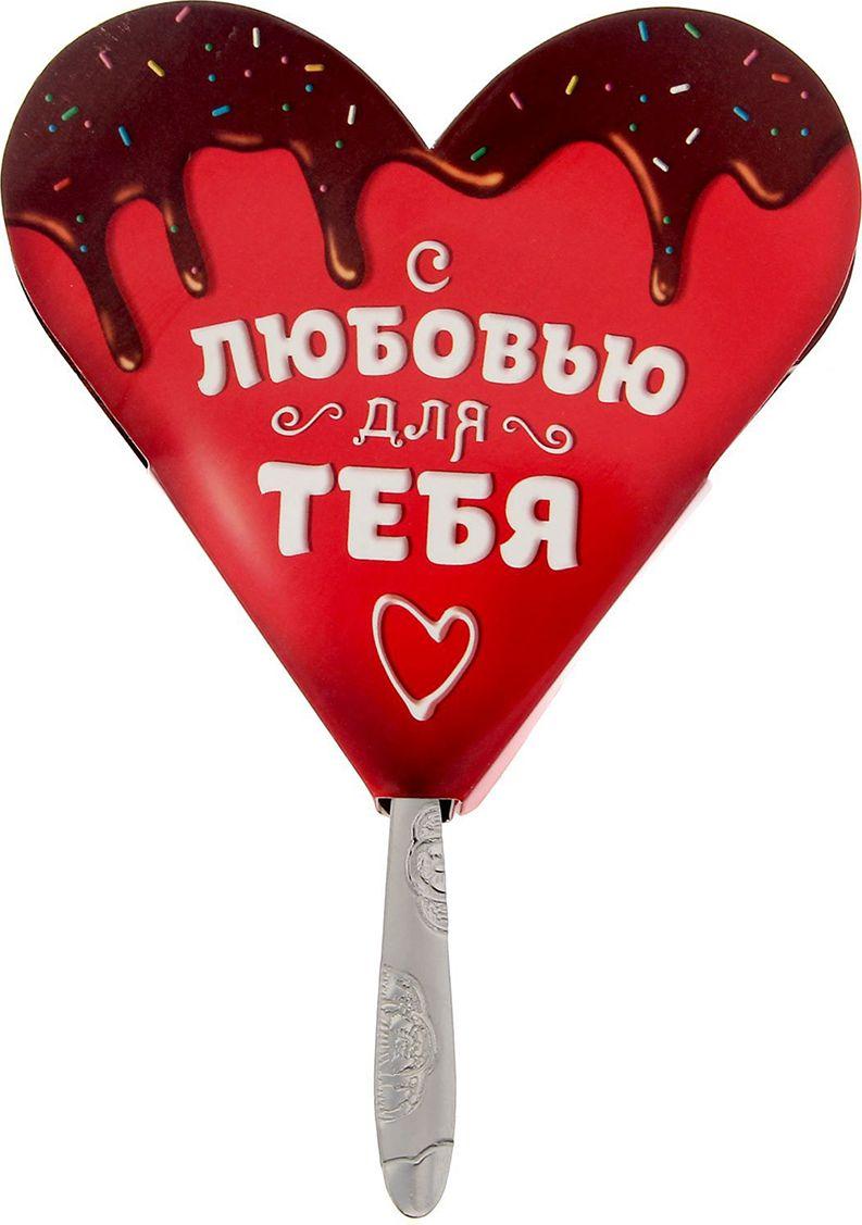 Ложечка сувенирная Sima-land С любовью для тебя, на открытке, 14 см sima land 9146