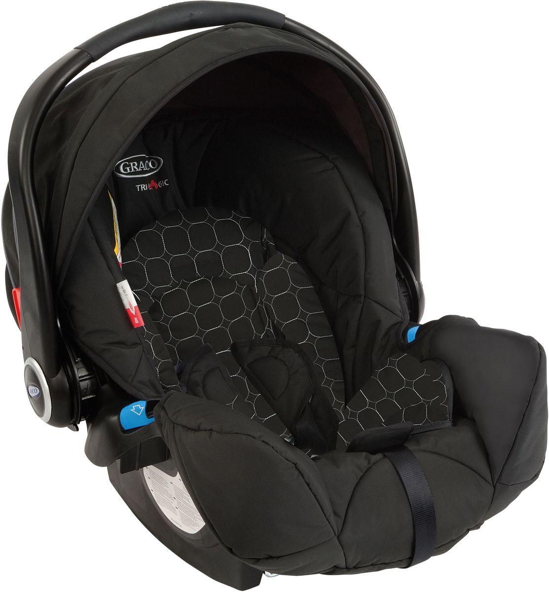 Graco Автокресло Logico S Noir цвет черный от 0 до 13 кг1785561Это детское автокресло Graco Logico S Noir с высоким уровнем безопасности и комфорта для новорожденных младенцев и до 12 месяцев (0-13 кг). Автокресло - простое в использовании и очень прочное, усиленная боковая защита с двойной EPS системой. Регулируемая ручка для переноски и возможность машинной стирки текстиля при температуре 30 градусов.
