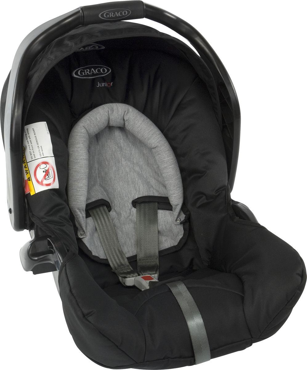 Graco Автокресло Junior Baby Sport Luxe цвет черный от 0 до 13 кг1808527Автокресло JUNIOR BABY 0+ обеспечивает полную безопасность и комфорт класса люкс. Глубокие боковины с мягкой набивкой и 3-точечные ремни безопасности гарантируют оптимальный комфорт и защиту от бокового удара, а индикатор правильности установки позаботится об отсутствии ошибок при установке для вашего спокойствия. Совместимо с прогулочными колясками Graco Evo, Graco Evo XT и Metro, Graco Evo Avant, Blox, FastAction Fold Sport, Mirage, Mosaic, Quattro Tour Duo, Stadium Duo.