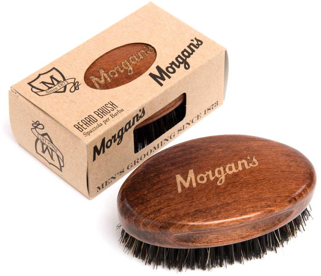 Morgans Щетка для бороды. M063M063Щетина и деревянная щетка изготовлены в Италии. Традиционная мужская деревянная щетка в силе милитари с логотипом Morgan's. Изготовленная из щетины кабана высочайщего качества, эта щетка очищает, стимулирует и улучшает состояние ваших волос. Щетка распутает и приручит даже самые дикие и жесткие бороды.