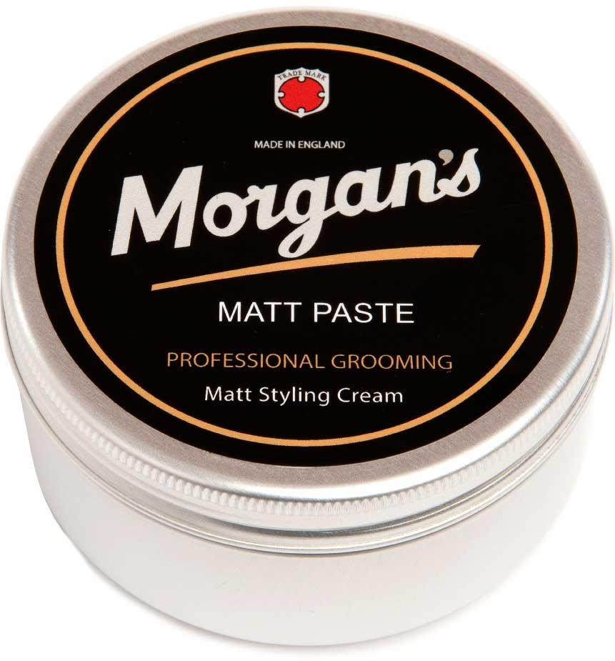 Morgans Матовая паста для укладки волос, 100 мл. M017M017Крем средней фиксации с матовым эффектом для создания натуральной укладки с нужным объемом и текстурой. Кремовая текстура обеспечивает легкое нанесение. Гарантирует матовый оттенок без блеска. Фирменный аромат от MORGANS - бергамот, жасмин, сандал и пачули. Фиксация - средняя; Время - до 16 часов; Блеск - отсутствует (матовый)