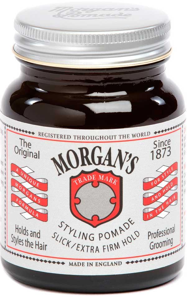 Morgans Помада для укладки волос Экстра-сильная фиксация, 50 г. M012AM012AПомада с экстрасильной фиксацией позволяет добиться длительной надежной фиксации, легкого натурального блеска и точности укладки. Водорастворимая и легко смывается. Анти-статический эффект. Питает и увлажняет волосы. Фирменный аромат от Morgan`s - бергамот, жасмин, сандал и пачули. Оригинальный винтажный стиль баночки.