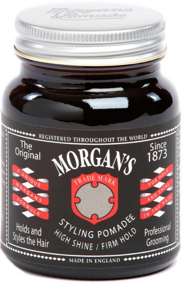 Morgans Помада для укладки волос Сильная фиксация/Сильный блеск, 50 г. M010AM010AПомада обладает сильным блеском и длительной сильной фиксацией. Водорастворимая и легко смывается. Анти-статический эффект. Питает и увлажняет волосы. Фирменный аромат от Morgan`s - бергамот, жасмин, сандал и пачули. Оригинальный винтажный стиль баночки.
