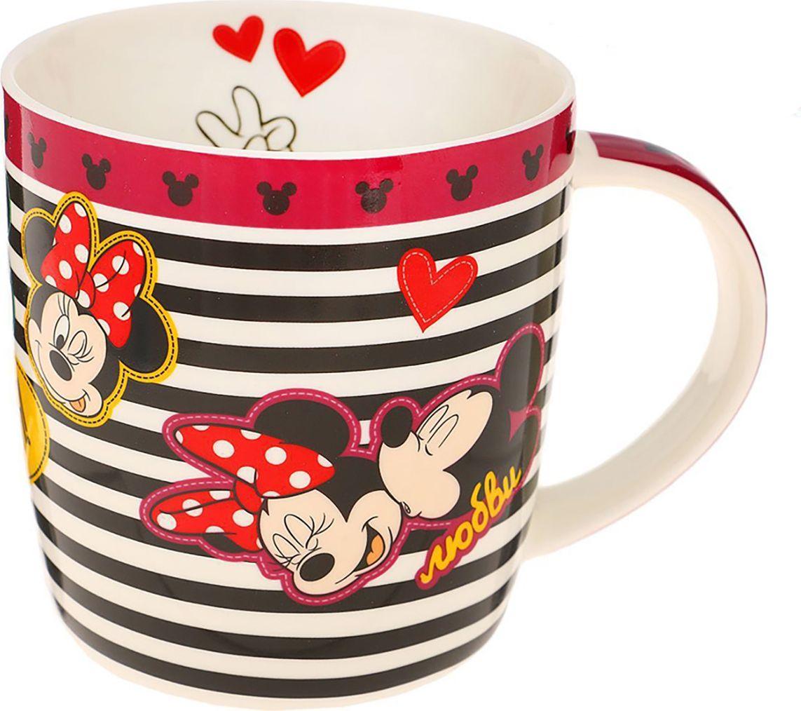 Кружка детская Disney Микки Маус и друзья. Веселья, счастья, любви, 350 мл. 12008921200892Дарите радость вместе с намиКружка с любимыми героями обязательно порадует малыша! Она яркая и волшебная, почти как лампа Алладина. Красочное изображение и дорогие сердцу персонажи будут радовать ребёнка каждый день! С такой кружкой любой напиток станет в два раза вкуснее и желаннее. Благодаря яркой дизайнерской упаковке кружку можно подарить на любое важное событие в жизни малыша.Все материалы посуды безопасны для здоровья детей и взрослых. Соберите коллекцию лицензионной посуды с изображением любимых героев!