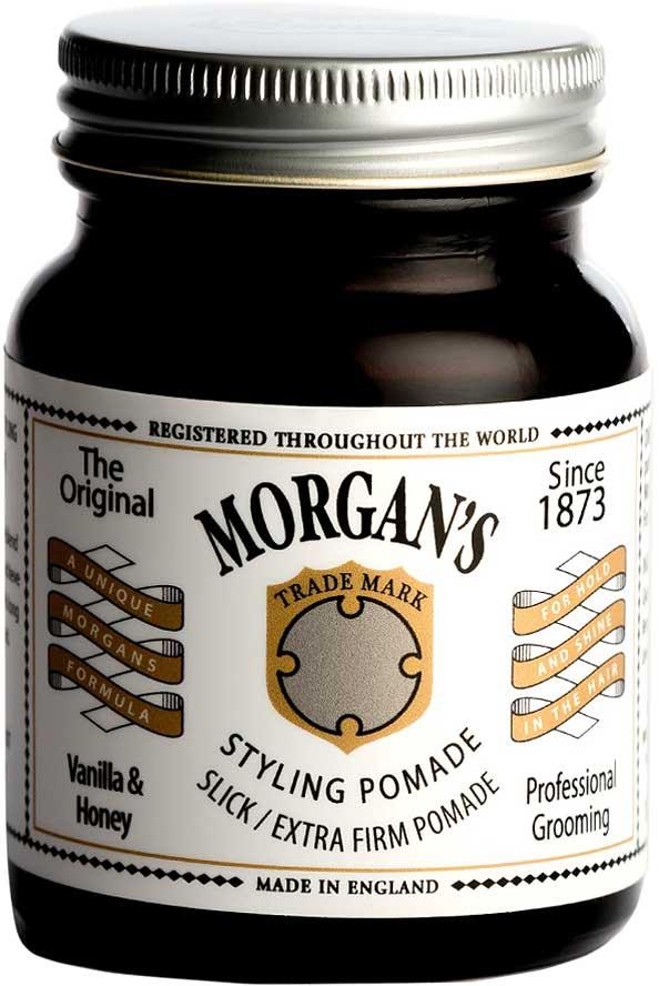 Morgans Помада для укладки волос Ваниль и мед. Экстра-сильная фиксация, 100 г. M109M109Помада с экстрасильной фиксацией позволяет добиться длительной надежной фиксации, легкого натурального блеска и точности укладки. Водорастворима и легко смывается. Новый аромат от MORGANS - Ваниль и мед. Оригинальный винтажный стиль баночки.