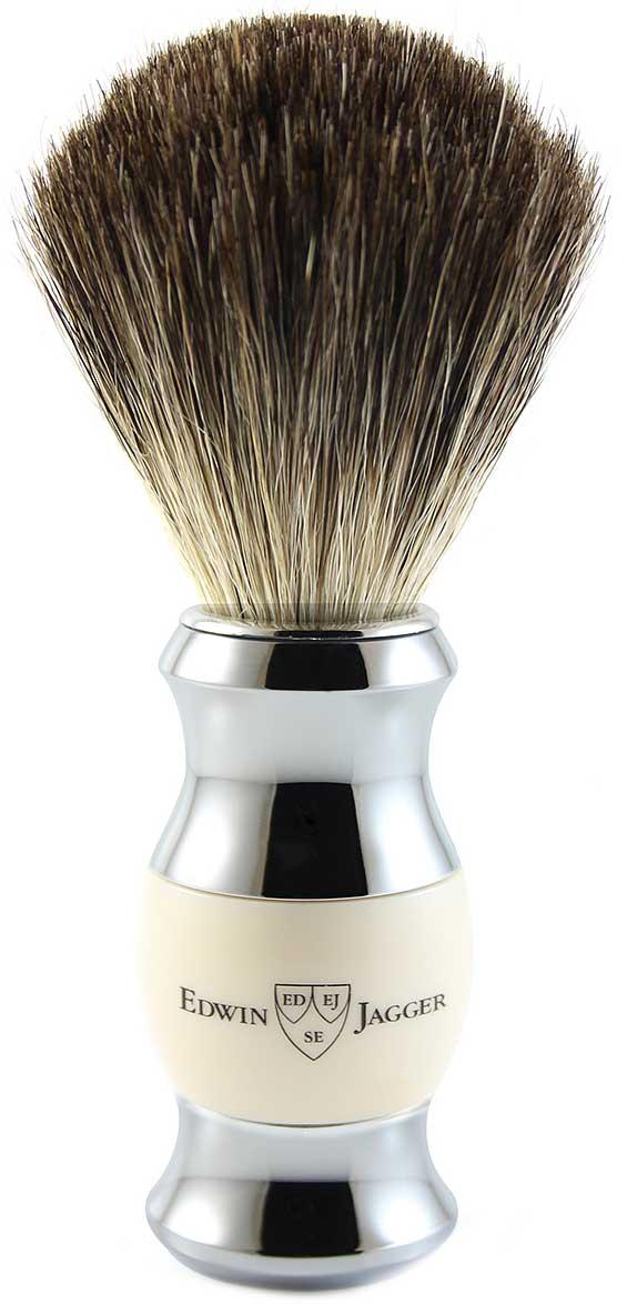 Edwin Jagger Помазок, барсучий ворс, цвет: слоновая кость. 81SB357CR