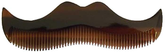 Morgans Янтарный гребень в форме усов. M080M080Небольшой гребень в форме усов изготовлен ??в Италии из растительной целлюлозы.
