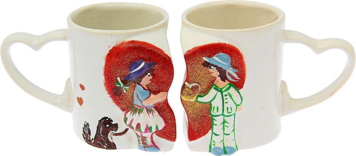 Набор чашек Керамика ручной работы Мальчик и девочка, 250 мл. 15735801573580Данная кружка выполнен из керамики. Изделие выдержит высокую и низкую температуру, надолго сохранит чай горячим, а остуженные напитки холодными. Ёмкости не выделяют вредных веществ при сильном нагреве. Кружки долго сохраняют первоначальный внешний вид и подходят как для мытья вручную, так и в посудомоечной машине. Интересное оформление украшает изделие и выделяет среди прочих. Окружайте себя красивыми вещами: парные кружки поднимут настроение вам и нашей половинке даже в ненастный день!