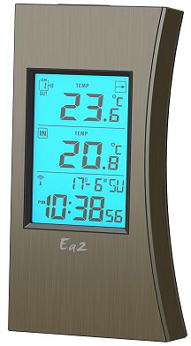 Ea2 ED601, Bronze термометрED601Термометр Ea2 ED601 предназначен для измерения внутренней и наружной температуры. Внутренняя с помощью встроенного в устройство датчика, а внешняя с помощью дистанционного датчика, входящего в комплект устройства. Также устройство оснащено часами.
