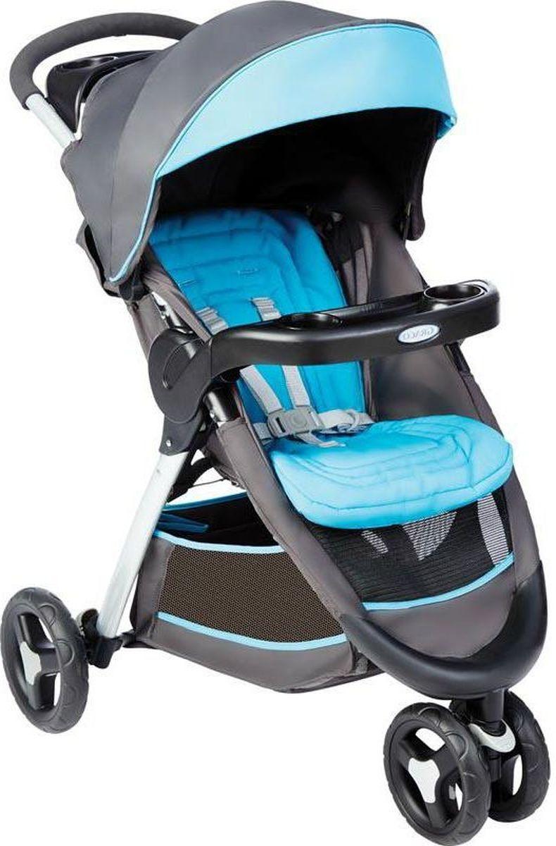 Graco Коляска прогулочная Fastaction Fold цвет серый голубой манежи graco silhouette