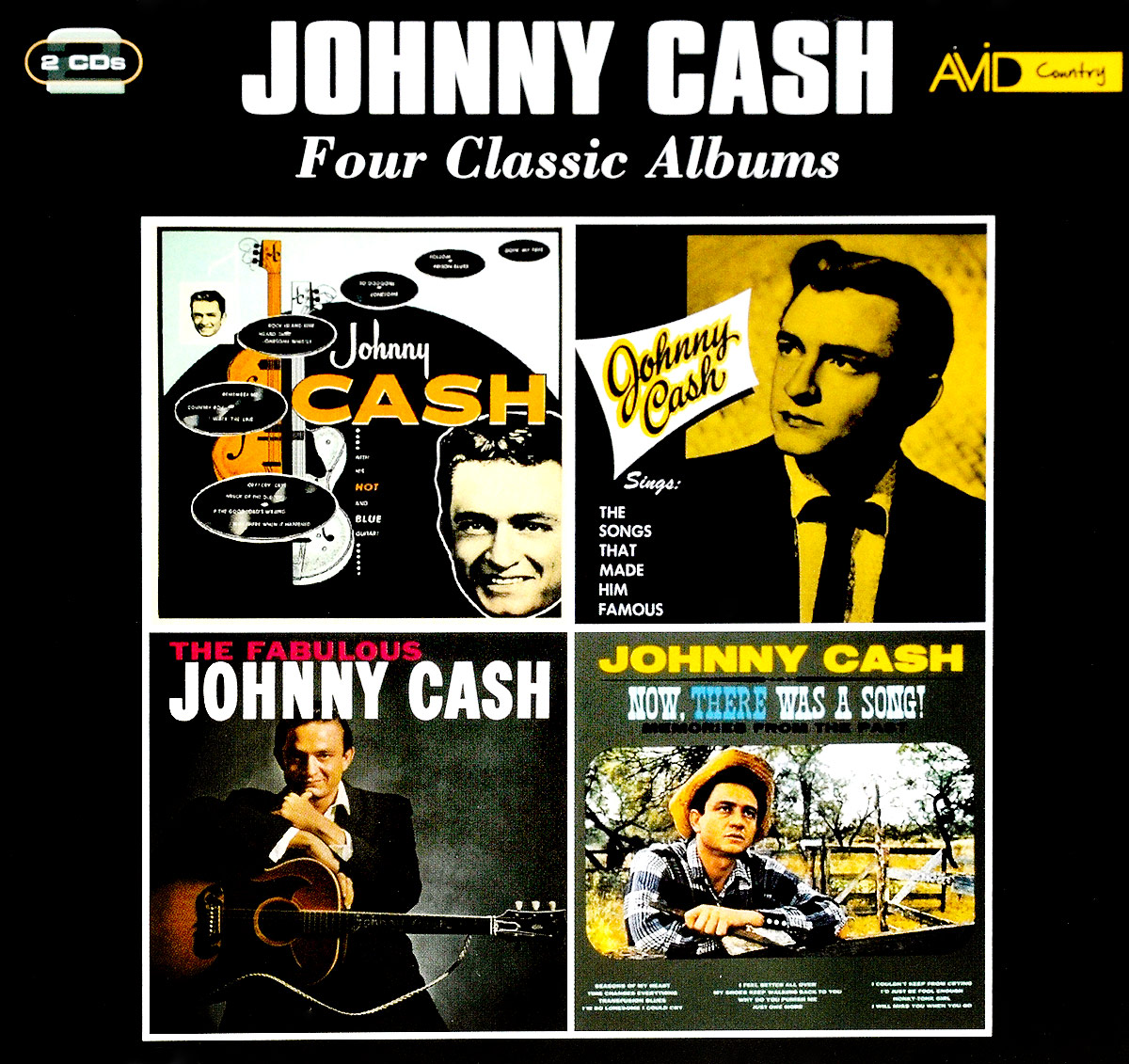 Джонни Кэш Johnny Cash. Four Classic Albums (2 CD) джонни кэш johnny cash remixed