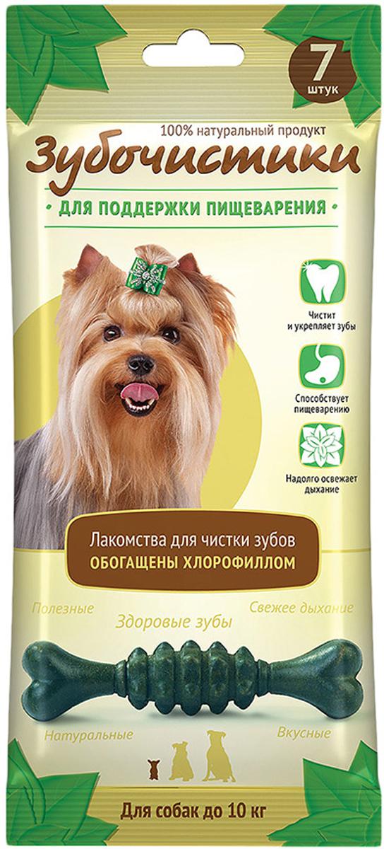 Лакомство Зубочистики Мятные для собак мелких пород, для поддержания пищеварения, 7 шт лакомство зубочистики для собак мелких пород с курицей 2 шт