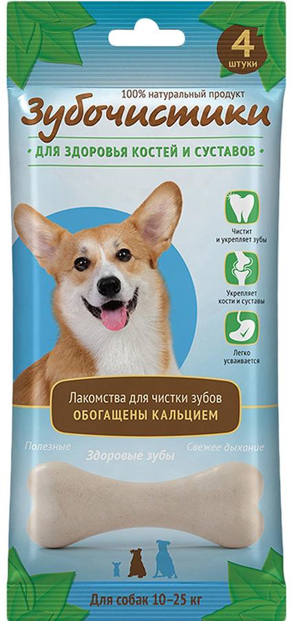 Лакомство Зубочистики для собак средних пород, для здоровья костей и суставов, 4 шт лакомство зубочистики для собак мелких пород с курицей 2 шт