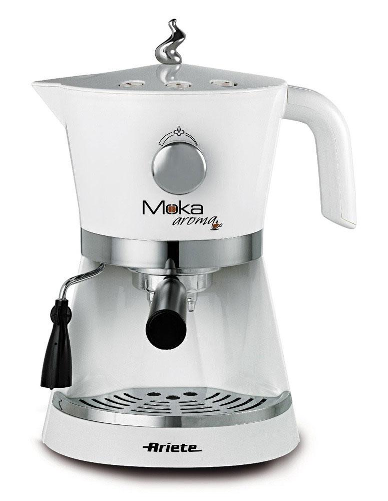 Ariete Moka Espresso Aroma кофеварка (1337/10)1337/10Весь аромат хорошего кофе и вкус итальянского дизайна заключены в эспрессо кофеварке Aroma Espresso Moka. Mocha Арома идеально подходит для любителей эспрессо и капуччино. Удобный в использовании и чистке, это идеальная машина для каждого типа кухни.Как выбрать кофеварку. Статья OZON Гид