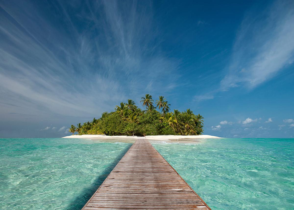 Фотообои PosterMarket Деревянный пирс, 254 x 184 смWM-29Мальдивы - это райские острова и одно из самых красивых мест на нашей планете.