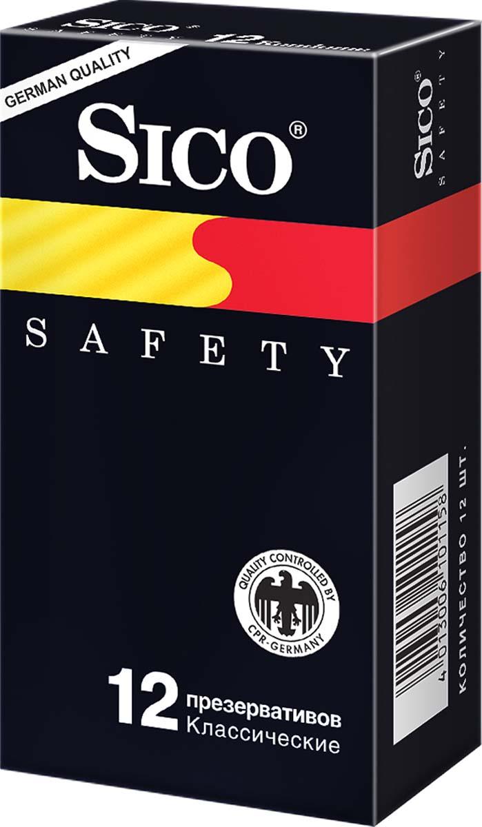 SICO Презервативы Safety, классические, 12 шт101158Классические презервативы с накопителем, гладкие, с силиконовой смазкой.Эти презервативы прекрасно подойдут для тех, кто любит надежность, тех, кто хочет отбросить все детали и сосредоточится только на партнере.