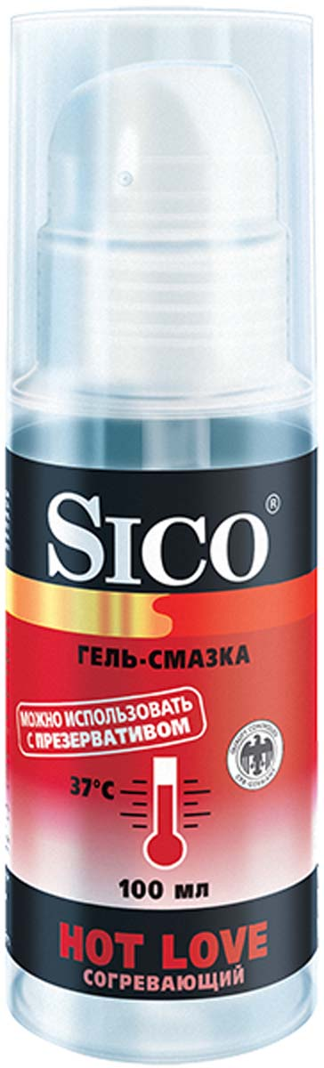 SICO Гель-смазка Hot Love, согревающий, 100 мл gift set of clone a willy hot pink and silver bullet