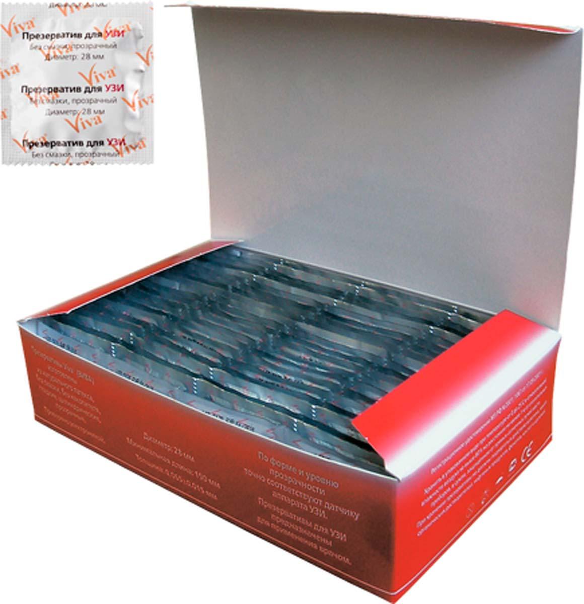 VIVA Презервативы для УЗИ, 100 шт ns novelties power play boomboom power wand черный вибромассажер для всего тела