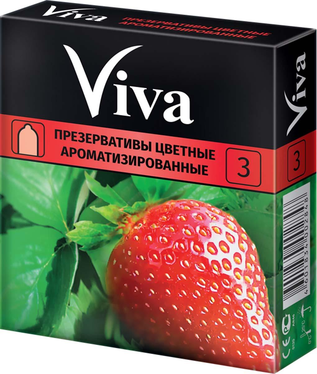 VIVA Презервативы Цветные ароматизированные, 3 шт likemei презервативы тонкие 8 шт