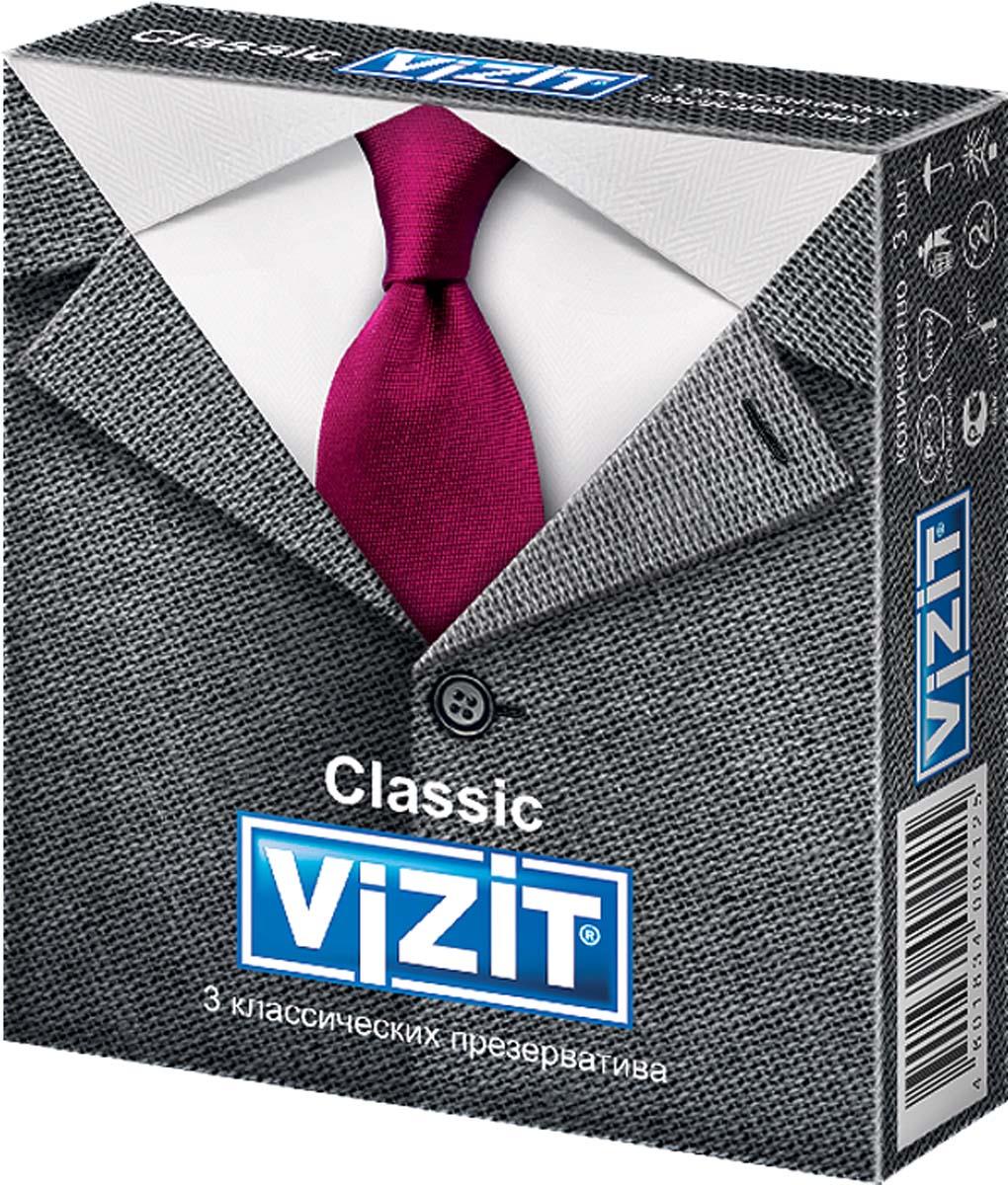 VIZIT Презервативы Classic, классические, 3 шт lelo туф 2 фиолетовый о