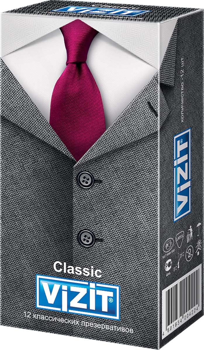 VIZIT Презервативы Classic, классические, 12 шт презервативы contex classic 18 шт