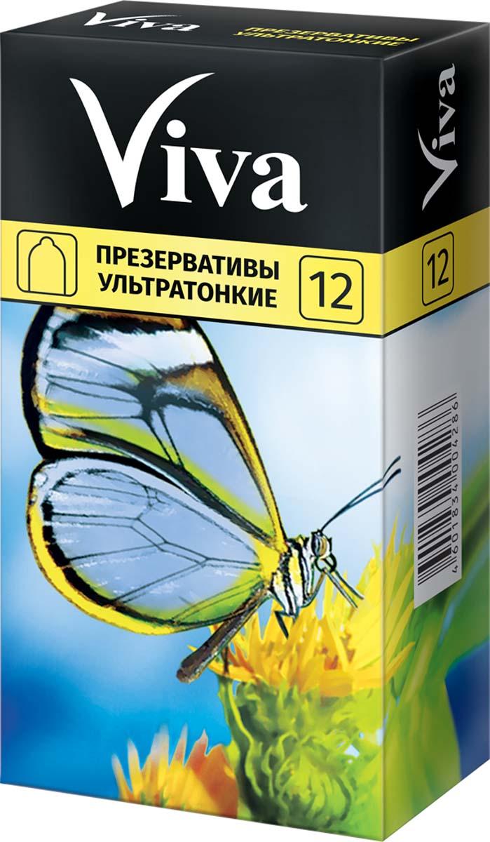 VIVA Презервативы Ультратонкие, 12 шт двусторонний фаллоимитатор розовый