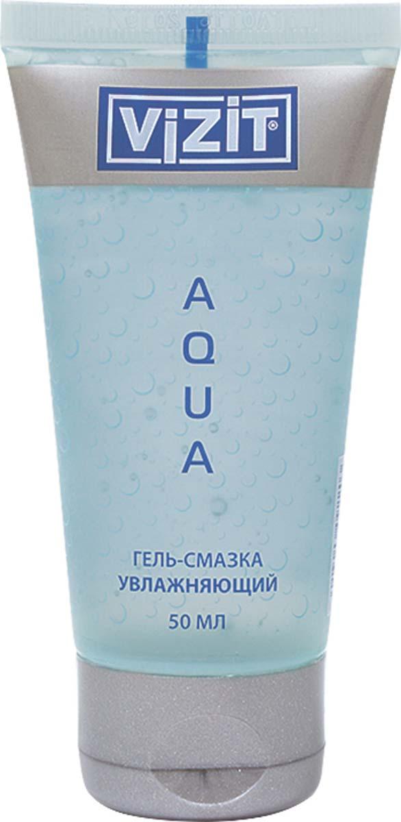 VIZIT Гель-смазка Aqua, увлажняющий, 50 мл92203Прозрачный гель на водной основе. Обладает успокаивающим действием, увлажняет слизистую оболочку и кожу. Имитирует естественную вагинальную смазку. Гель обладает прекрасным увлажняющим действием, увеличивая скольжение, тем самым позволяет получить полноценный комфорт и приятные ощущения во время сексуальной близости. Не содержит красителей, pH-сбалансированы, не содержит жиров, легко смывается водой, не пачкает белье, полностью совместим с презервативами и любыми изделиями из латекса и полимерных материалов, не является контрацептивом.