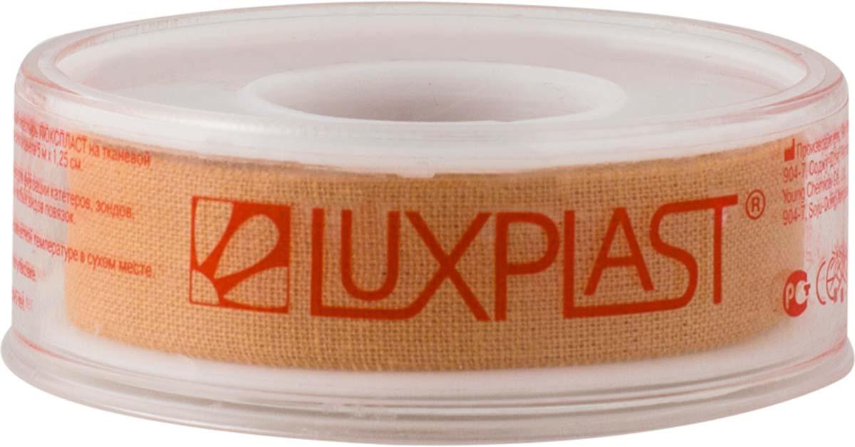 Luxplast Лейкопластырь медицинский, на тканевой основе, 5 м х 1,25 см