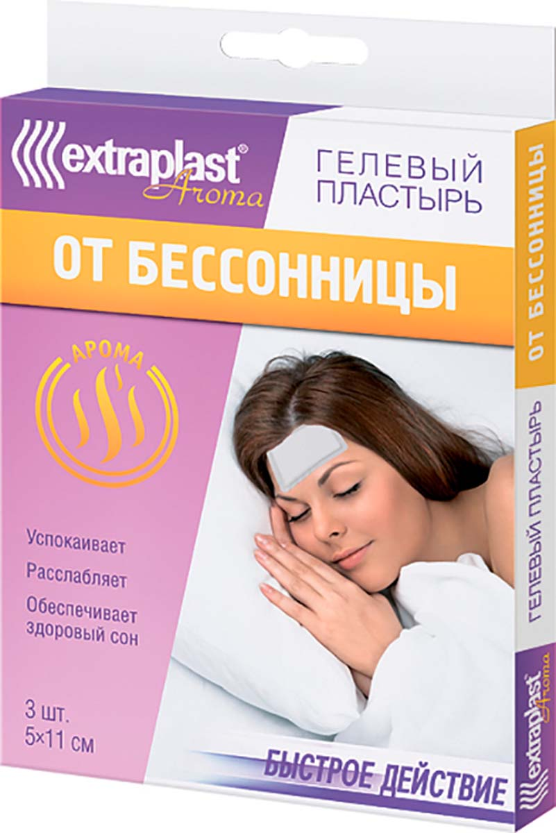 Extraplast Пластырь-компресс гелевый Aroma От бессонницы, 3 шт