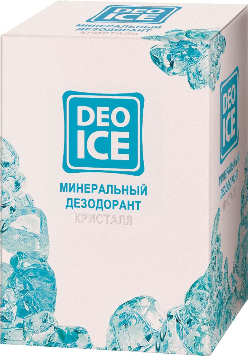 Deoice Минеральный дезодорант Кристалл, 50 г16029Натуральный минеральный дезодорант. На 100% состоит из квасцового камня. Это природный минерал, уникальные свойства которого позволяют совмещать в DEOICE дезодорирующее, антимикробное и успокаивающее кожу действие. Это не просто дезодорант в обычном понимании, а многофункциональное косметическое и гигиеническое средство. Преимущества:- 100% природная формула продукта; - без консервантов и ароматизаторов, не имеет запаха; - не липнет и не пачкает одежду; - не закупоривает поры и не блокирует потоотделение; - более 24 часов препятствует появлению запаха пота;- не вызывает аллергии; - может использоваться в период беременности и лактации; - не сушит кожу и не вызывает раздражение; - UNISEX - эффективен как для женщин, так и для мужчин; - СУПЕРЭКОНОМИЧЕН - одного дезодоранта хватает более чем на год.